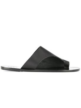 Rosa Black Vacchetta Sandal