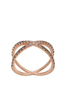 18K Rose Gold Ombre Shorty Diamond Ring