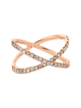 18kt rose gold shorty ring