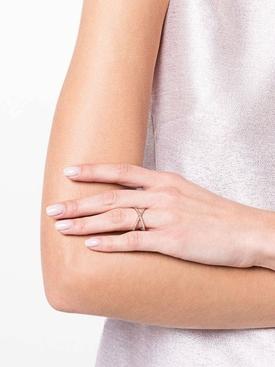 18kt rose gold shorty ring