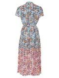 Saloni - Silk Multicolored Lilian Dress - Women