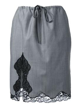 Wool Lace Trim Skirt