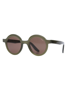 Joca round sunglasses, olive green