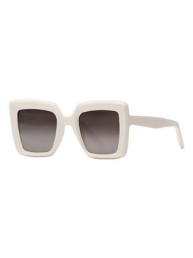 Teresa square sunglasses, white