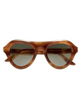 Andrea aviator sunglasses, havana caramel