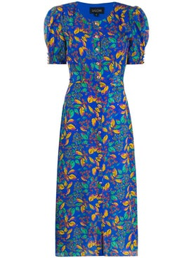 Saloni - Floral Print Lea Dress - Mid-length