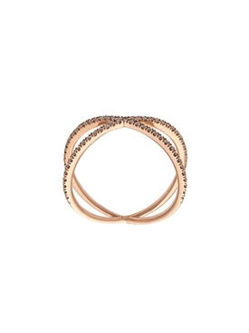 Champagne Diamond Rose Gold Shorty Ring