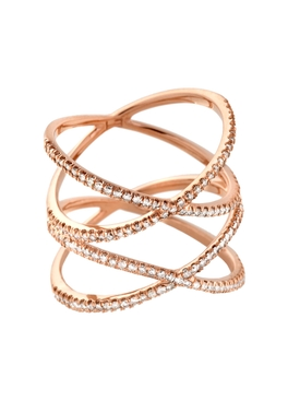 Eva Fehren - 18kt Rose Gold Xx Ring - Women