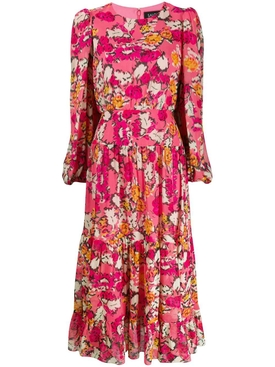 Saloni - Multicolored Floral Isabel Dress - Women
