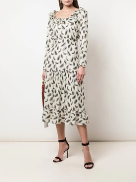 Misha silk mid-length dress