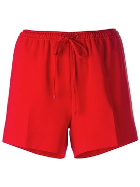 tailored track short RED