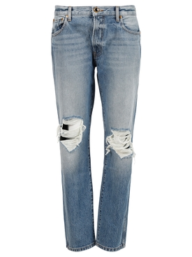 Kyle Relaxed Low Rise Jeans, Portland Blue