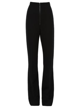 Atlein - High Waist Zip Front Slim Trousers - Women
