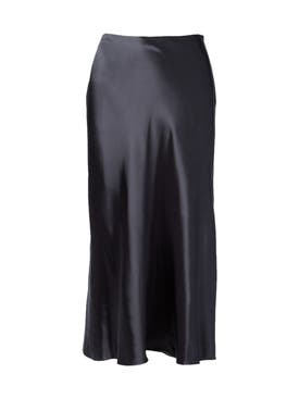 The Row - Medela Midi Satin Skirt Petrol Navy - Women