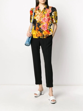 Multicolored Floral Button Down Shirt