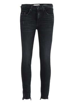 Black Mid-Rise Denim Pants