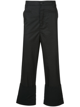 Fisherman flared cropped trousers
