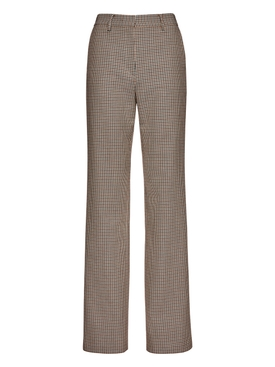 Houndstooth trousers bordeaux
