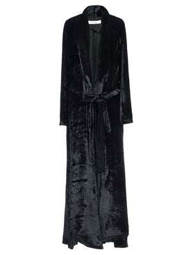 Galvan - Soft Velvet Belted Coat - Women
