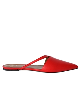 Neviano leather flats red