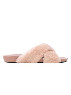 Doris Fur Sandal, Pink