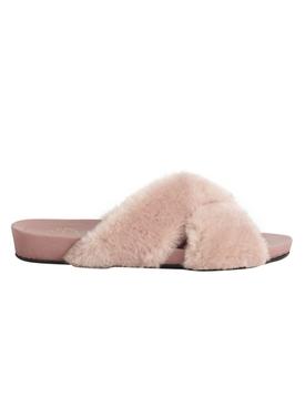 Doris pink fur sandal