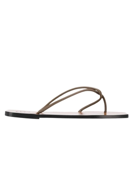 Alessano Khaki Brown Nappa Sandals
