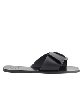 Black Carpari Leather Sandals