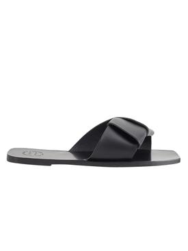 Black Carpari Leather Sandals