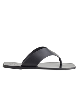 Black Merine Leather Sandals