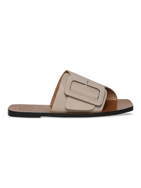 Ceci buckled leather sandals, Warm Grey Vacchetta