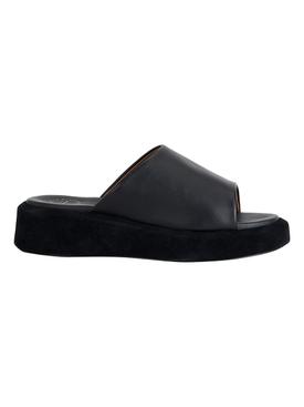 Pacci Nappa Leather Sandal, Black