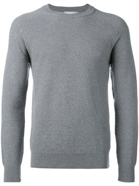 Ami Alexandre Mattiussi - Crew Neck Sweater Seed Stitch Heather Grey - Men