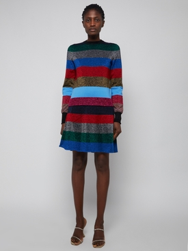 LUREX STRIPE CREWNECK JUMPER