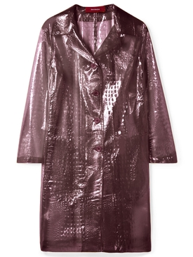 croc-effect plastic coat PURPLE