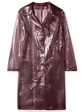Sies Marjan - Croc-effect Plastic Coat Purple - Clothing