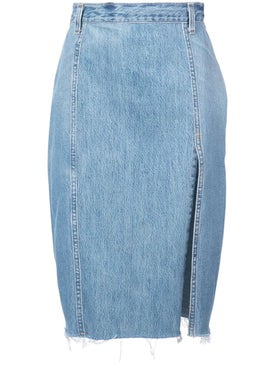 Re/done - Pencil Denim Skirt - Women