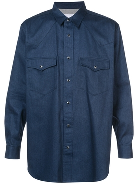 front pocket shirt BLUE