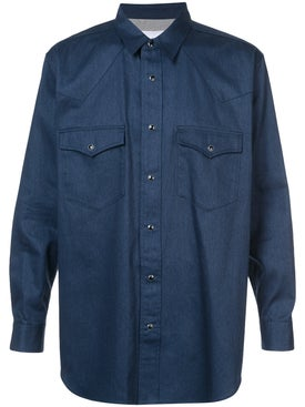 Julien David - Front Pocket Shirt Blue - Men