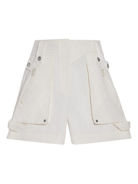 White Pocket Short