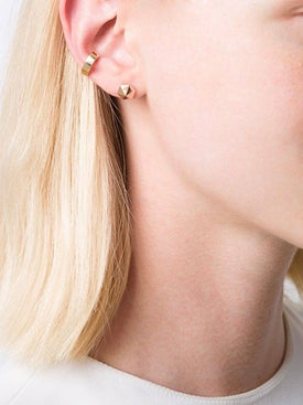 Anita Ko - 18kt Yellow Gold Double-row Ear Cuff - Women