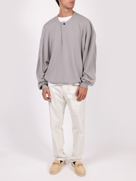 Satellite sweater with cuffs and waistband