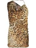 Cushnie - Leopard Print Blouse Tan - Women