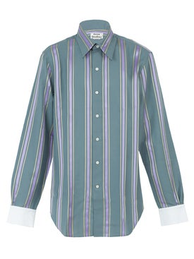 Acne Studios - Code Wax Stripe Shirt - Men