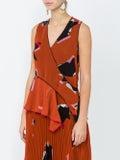 Proenza Schouler - Patterned V-neck Sleeveless Blouse Multicolor - Women