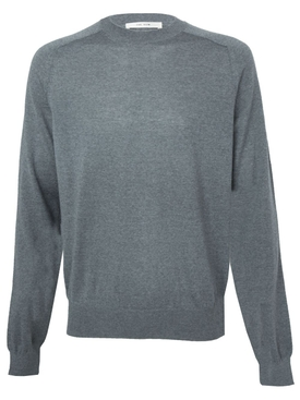 Merino wool scott crewneck sweater GREY