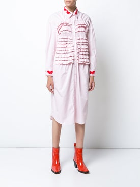 Simone Rocha - Beaded Smocked Shirt Dress - Women