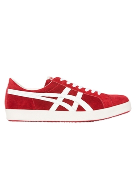 Red Suede Low-Top Nippon Made Sneakers
