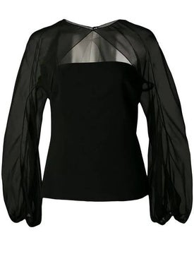 Cushnie - Sheer Sleeve Top - Blouses