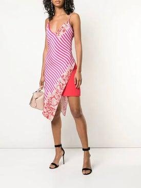 Cushnie - Striped Wrap-around Dress - Women